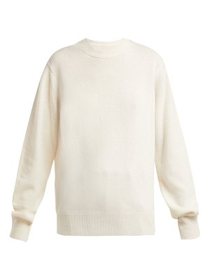Helmut Lang cashmere ring shoulder sweater
