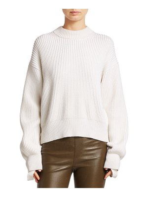 Helmut Lang Cotton & Wool Ribbed Sweater
