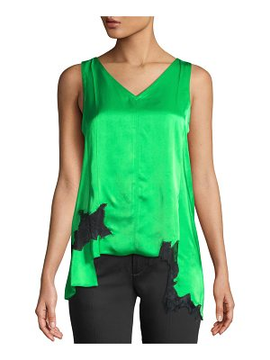 Helmut Lang Deconstructed Lace Slip Top