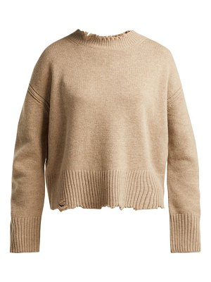 Helmut Lang distressed crew neck sweater