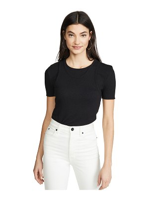 Helmut Lang double layer tee