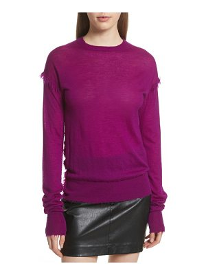 Helmut Lang frayed cashmere sweater