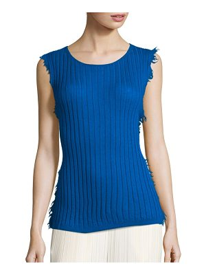 Helmut Lang Frayed Cashmere Tank Top