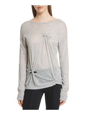 Helmut Lang knot detail cashmere sweater