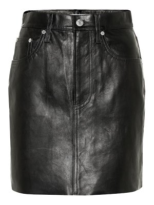 Helmut Lang leather miniskirt
