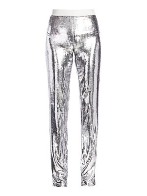 Helmut Lang metallic velvet straight-leg pants