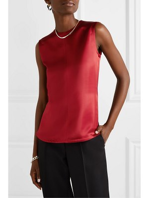 Helmut Lang open-back satin-twill top