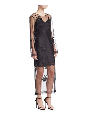 Helmut Lang orchid embroidered dress