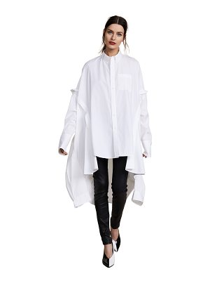 Helmut Lang poncho oversized tunic dress