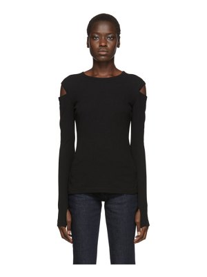 Helmut Lang rib slash long sleeve t-shirt
