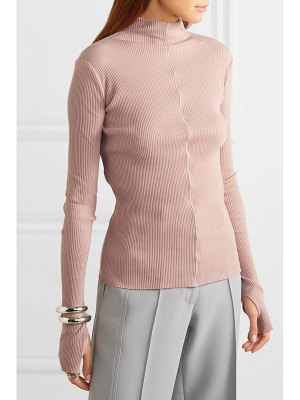 Helmut Lang ribbed cotton turtleneck sweater