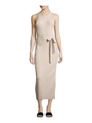 Helmut Lang Ribbed Waist Tie Dress