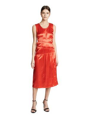 Helmut Lang ruched tank dress