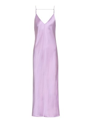 Helmut Lang Satin midi slip dress