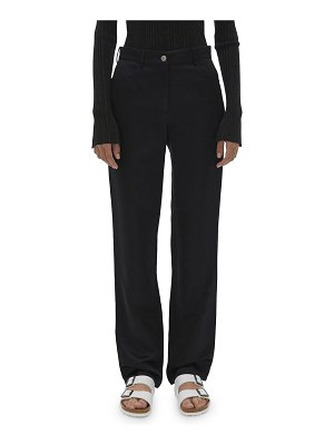 Helmut Lang Satin Straight-Leg Pants