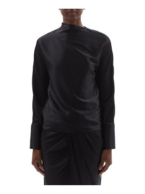 Helmut Lang silk-satin long-sleeve blouse