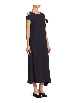 Helmut Lang Sleeve Cold Shoulder Tie Dress