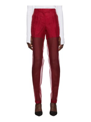 Helmut Lang straight organza trousers