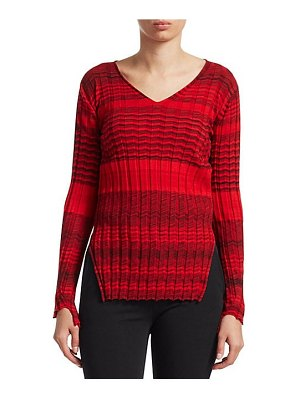 Helmut Lang striped ribbed wool sweater