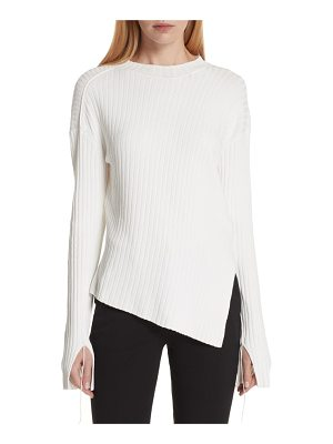Helmut Lang twisted paper rib sweater