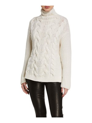 Helmut Lang Wool Turtleneck Cable Sweater