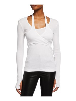 Helmut Lang Wrapped Long-Sleeve Tee