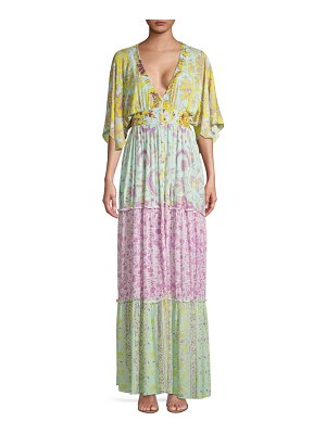 Hemant & Nandita Multi Floral-Print Maxi Dress