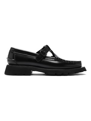 HEREU alber tread-sole t-bar leather loafers