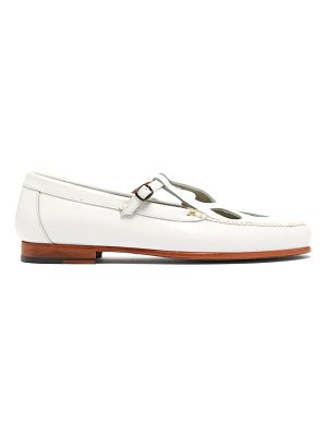 HEREU forada cut-out leather loafers
