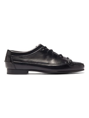 HEREU priega lace-up leather loafers