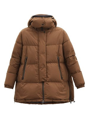 Herno a-line quilted down coat