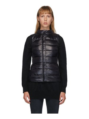 Herno black down fitted vest