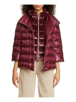 Herno classic short down puffer coat with removable windguard