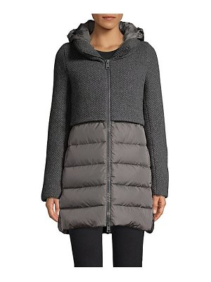Herno curly knit puffer jacket