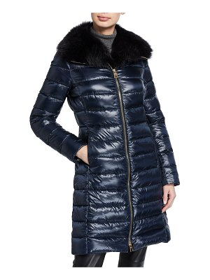 Herno Fitted Fur-Collar Puffer Coat