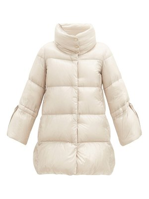 Herno funnel-neck cropped-sleeve quilted down jacket