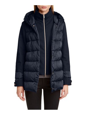 Herno hooded down jacket with removable windblocker