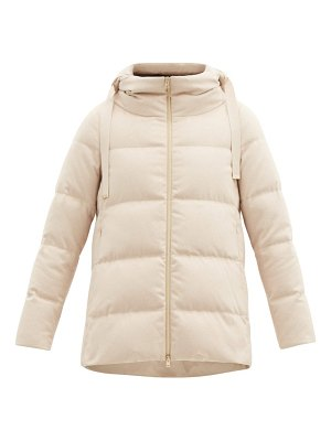 Herno hooded quilted down silk-blend jacket
