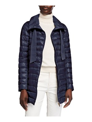 Herno Long Zip Hooded Woven Down Jacket