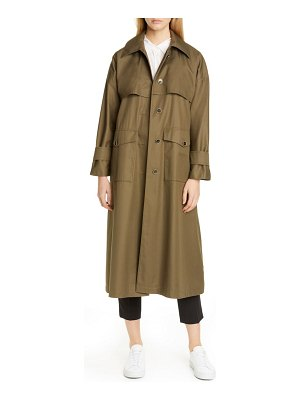 Herno monogram trim oversize cotton trench coat