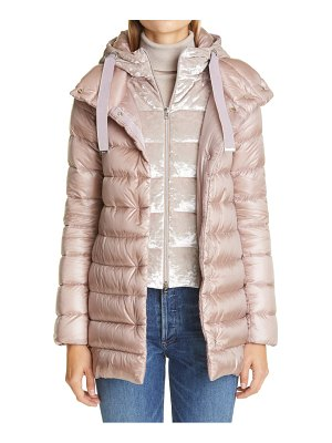Herno nancy down puffer coat with removable windguard