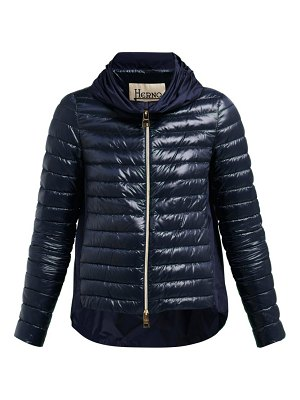Herno Pleated Collar Quilted Down Jacket