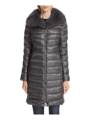 Herno quilted down puffer coat with removable genuine fox fur collar