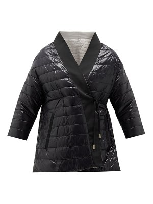 Herno reversible wrap-front down-padded shell coat