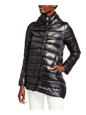 Herno Ribbed High-Low Down Puffer Jacket
