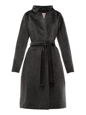 Herno stand collar faux fur coat