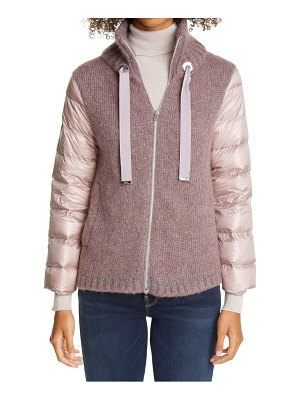 Herno sweater front down puffer jacket
