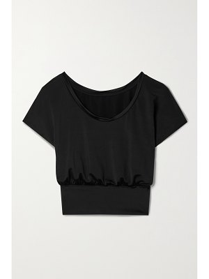 Heroine Sport scoop cropped stretch-jersey top