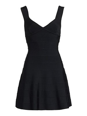 Herve Leger icon fit-and-flare dress