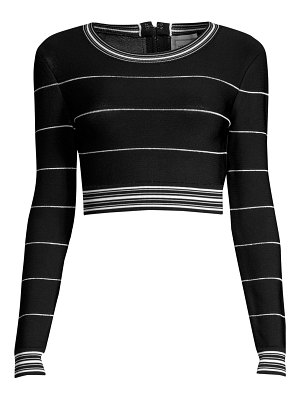 Herve Leger long sleeve striped top